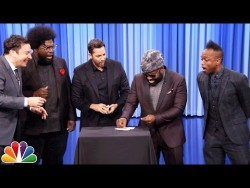David Blaine Shocks Jimmy and The Roots with Magic Tricks – YouTube