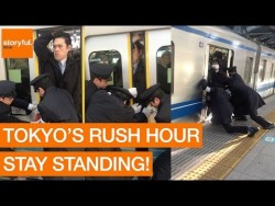 Stony-Faced Passenger Squeezes Onto Tokyo Subway During Rush Hour (Storyful, Crazy) – YouTube