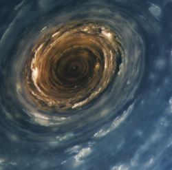 The vortex at Saturn's north pole