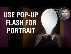 Simple diffuser for pop-up flash in portrait photography – YouTube