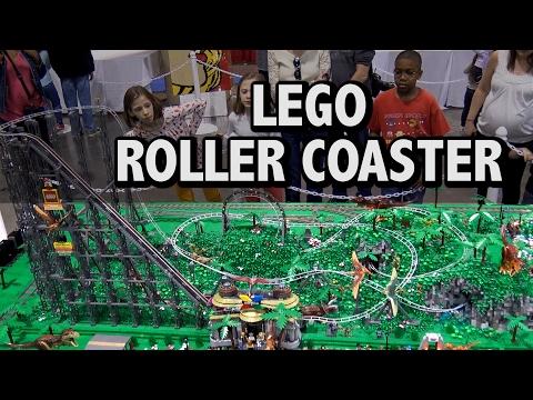 Custom LEGO Roller Coaster Dinosaur Amusement Park 145,000 Pieces – YouTube