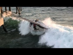 Full Version Including Passenger Rescue – Sailboat Capsized into Redondo Beach Pier in Cal ...