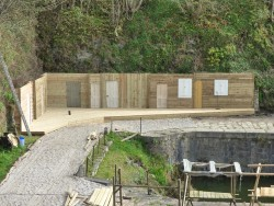 A Poldark set being built at Charlestown
