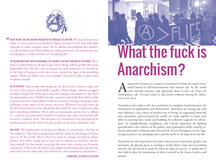 What the fuck is anarchism? – IT'S GOING DOWN