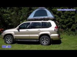 Self made Car Rooftop Tent set up in 2 minutes – YouTube