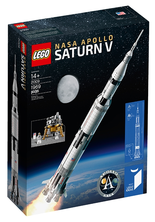 The Lego Saturn V that released on June 1 has 1,969 pieces – the same year that the vehicl ...