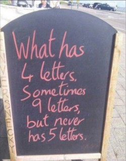 When punctuation marks (or lack of) give away the answer :)