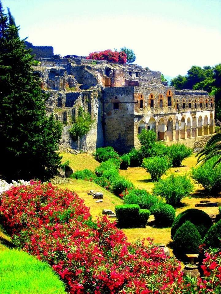 The Forum at Pompei, Italy