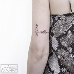 10+ Simple Yet Striking Tattoos By Former Turkish Cartoonist That You'll Want On Your Skin   Bor ...