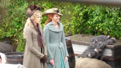 Snapped while filming Poldark at Charlestown