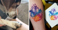 Dog Paw Prints Make The Most Pawesome Tattoos Ever, And Here's The Proof (10+ Pics)   Bored Panda