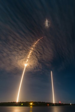 Launch and landing of a SpaceX Falcon 9