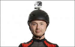 Helmet camera cyclist thinks he's Judge Dredd