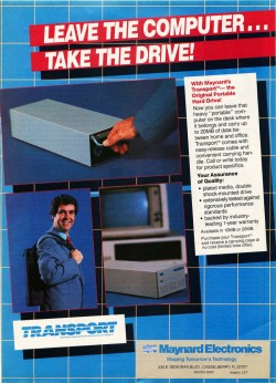 """The first """"portable"""" hard drive, up to 20Mb!"""