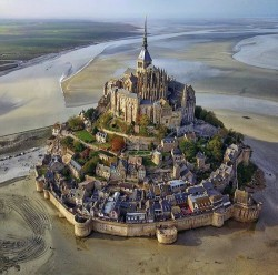 Mont San Michel at low tide