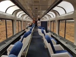 Cross country Amtrak viewing car