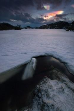 Unique phenomena called polar stratospheric clouds, Norway