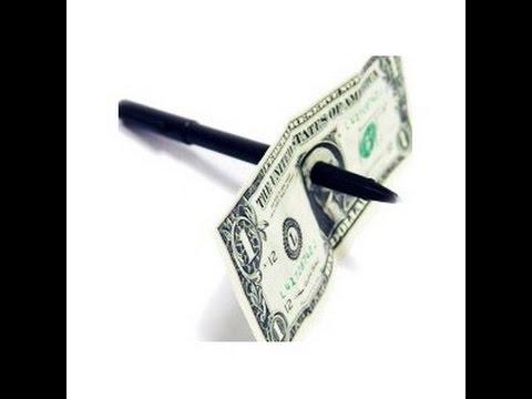 How to push the Pen Through Dollar Magic Trick – YouTube