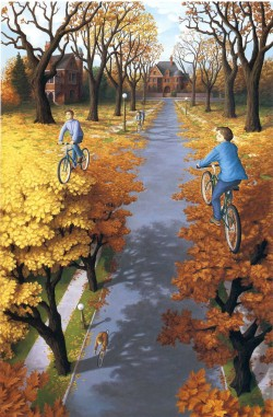 25 Psychedelic Optical Illusions By Rob Gonsalves | TIMEWHEEL