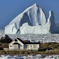 Can't come into work today, got an iceberg in the back garden