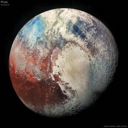 Pluto in colour