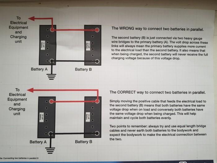 Multiple caravan leisure batteries