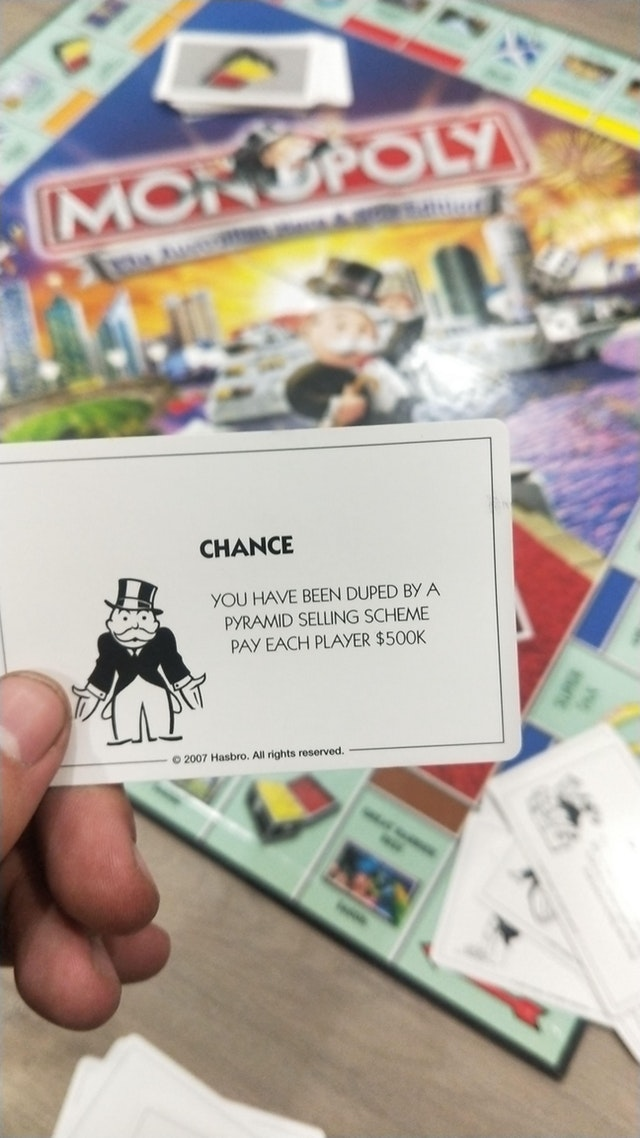 Even the monopoly man knows about MLM