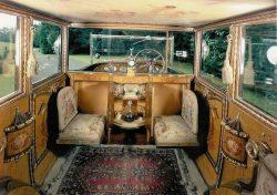 Inside a 1926 Rolls Royce