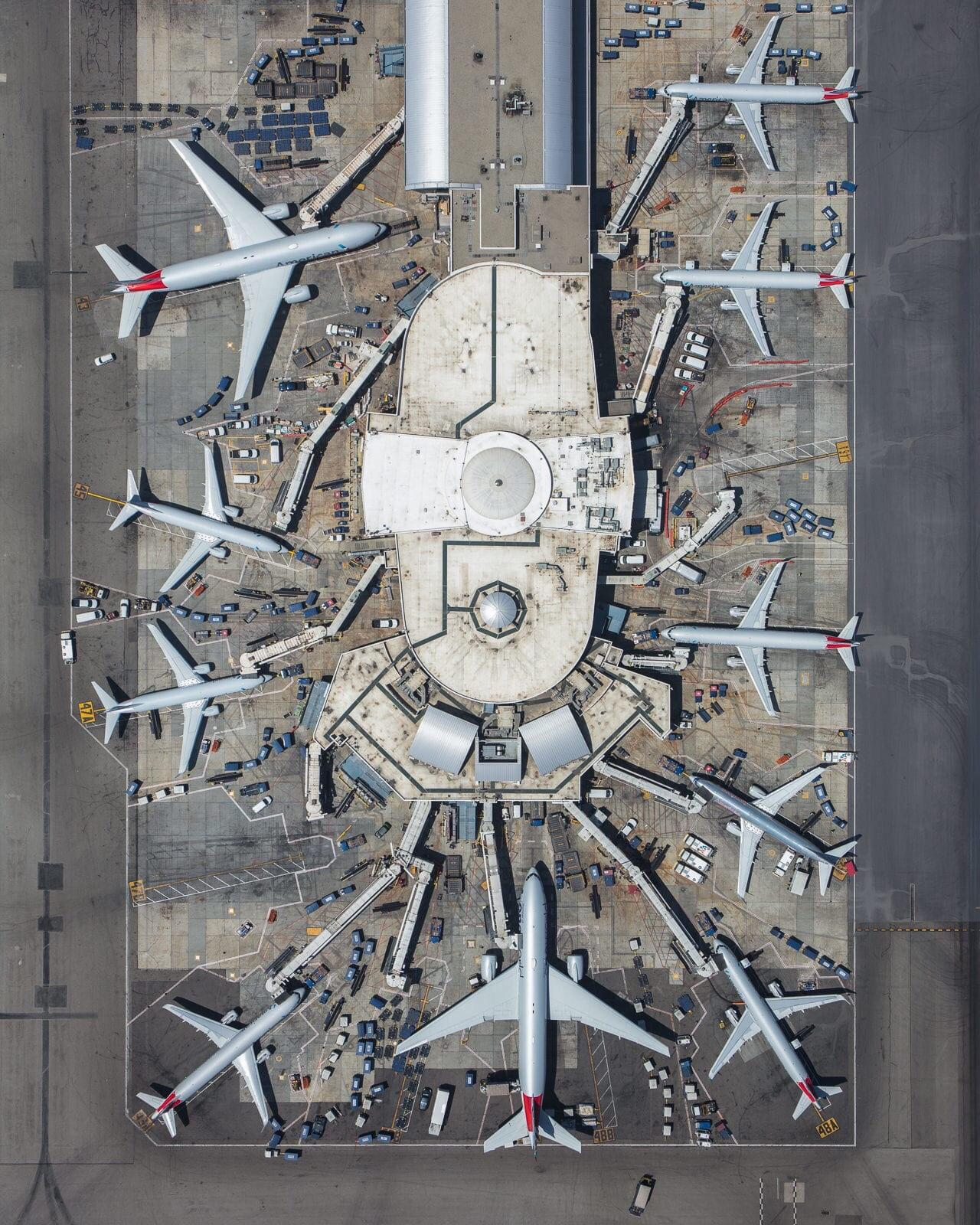 An Overhead View of Terminal 4 at LAX