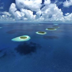 """floating"" islands in the Maldives"