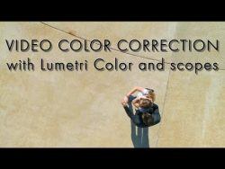 Drone video color correction