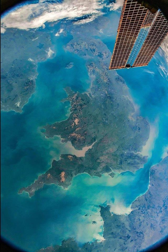 The UK seen from the ISS