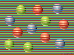 All of these balls are actually the same color. And that's brown.