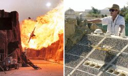 30 Fascinating Photos From Behind The Scenes Of Movies With Awesome Practical Effects