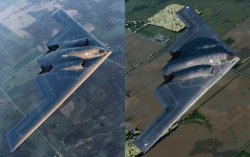 One is a flight sim, the other real, hard to tell which is which?
