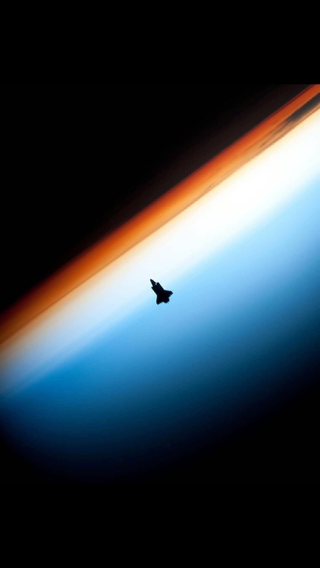Space Shuttle Endeavor Photographed from the International Space Station