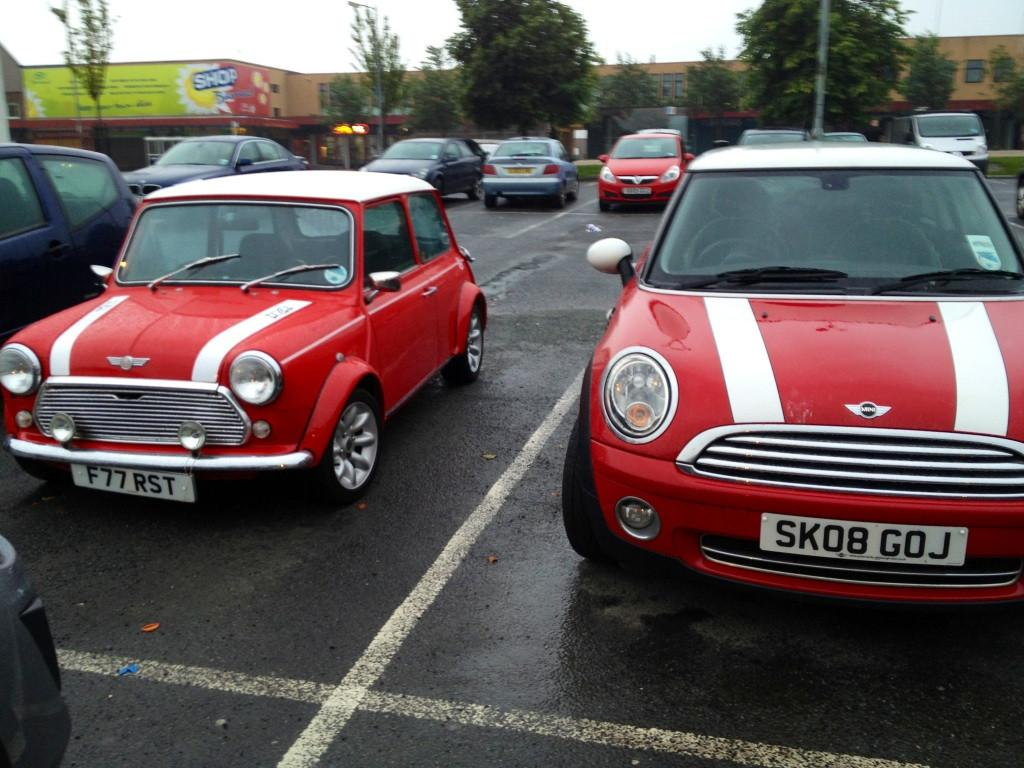 One on the left, classic, beautiful, great design. One on the right shouldn't bear the Min ...