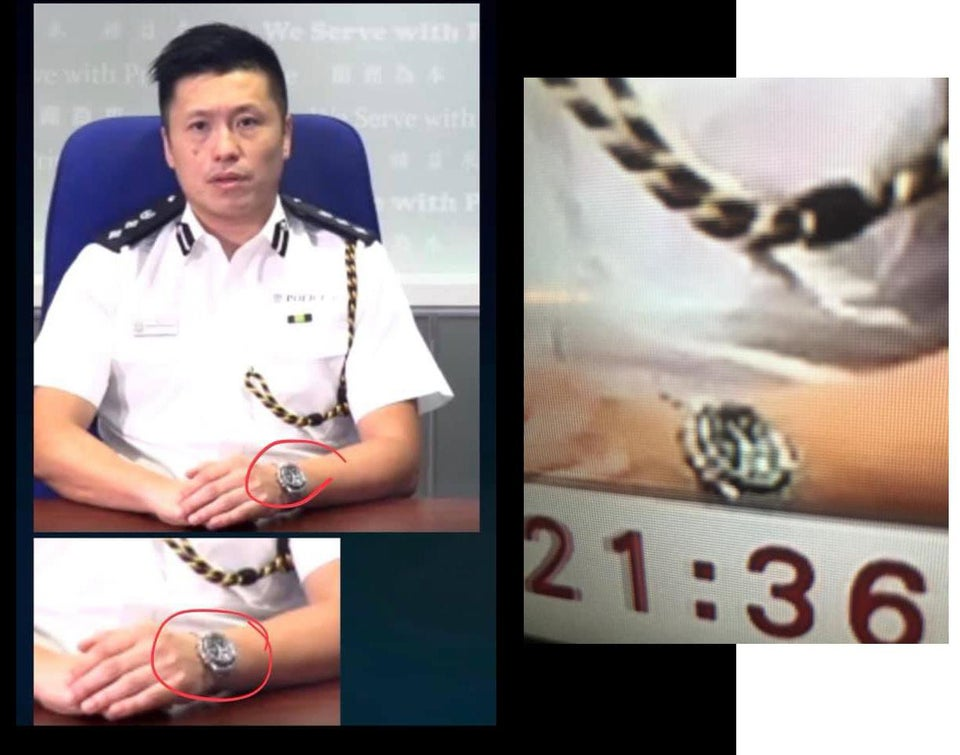 Hong Kong Police pre-record a video justifying their actions before the protests turned violent  ...