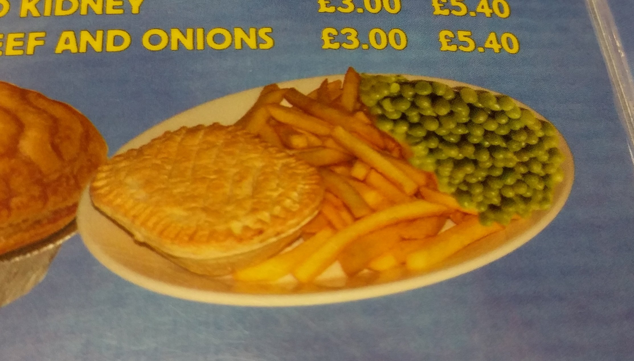 Why are the peas upside down?