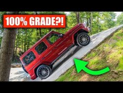 Mercedes G Wagen up a 45 degree slope