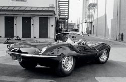 The coolest man in the world with the coolest car – Steve McQueen and his Jaguar XKSS