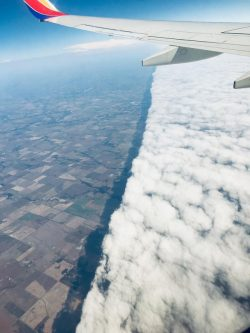 Cold front seen from above