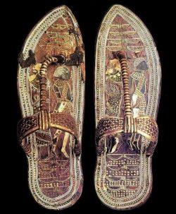 Egyptian pharaoh Tutankhamen's 3,300 year old sandals
