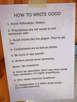 Ho to write good