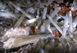 Giant Cave Crystals in Mexico