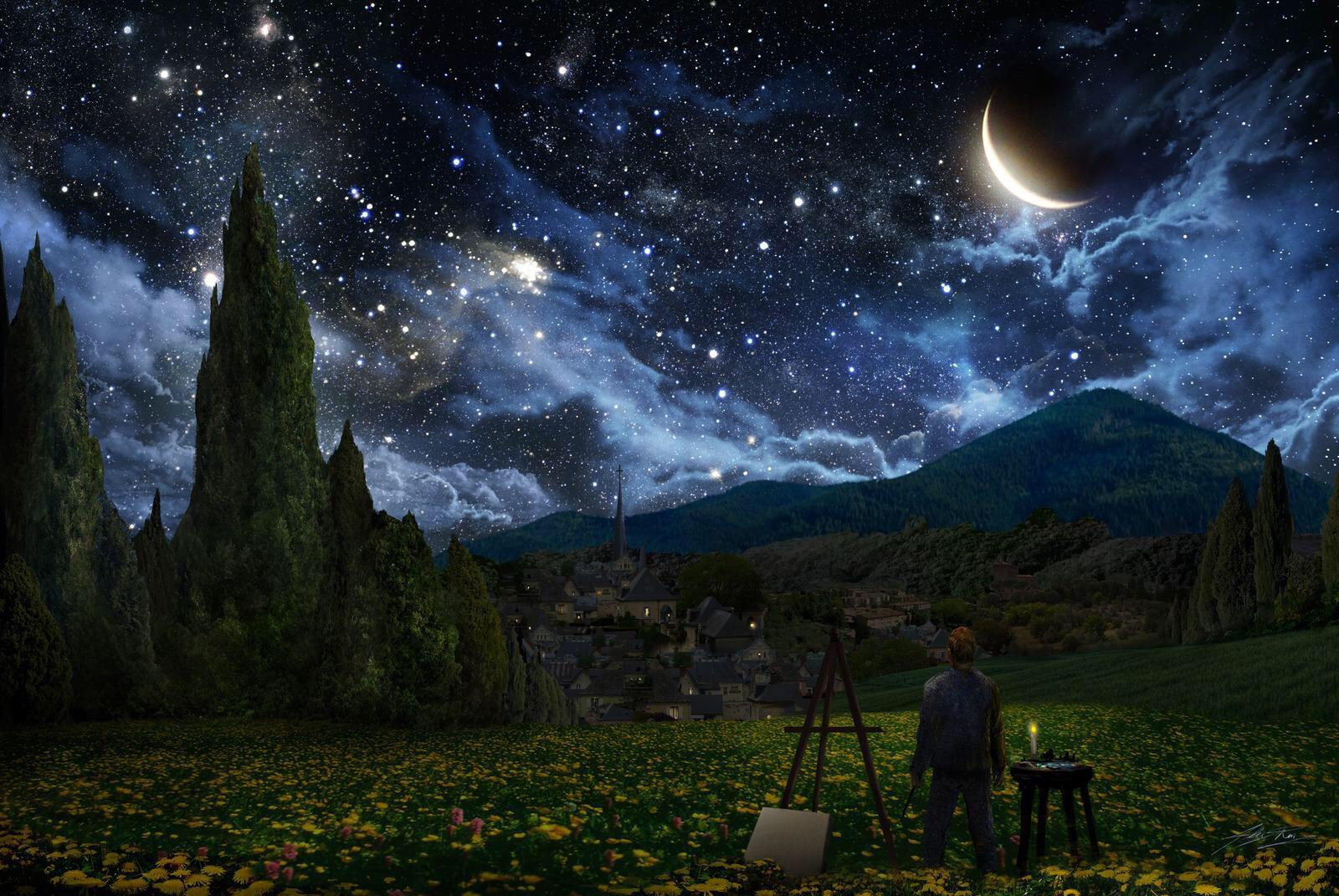 A great take on Van Goghs Starry Night