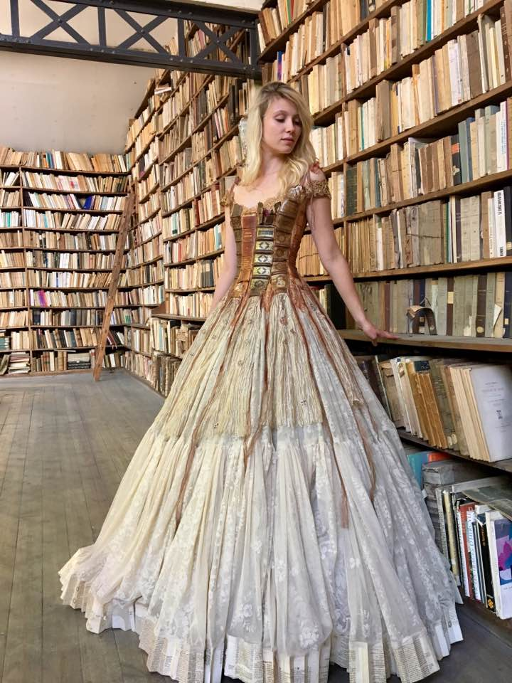 "Amazing ""book"" dress"