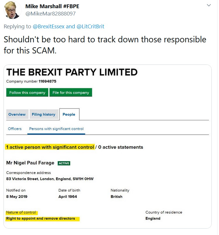 What system allows a limited company to run as a political party? Insane.