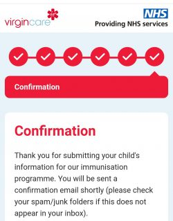 Next step in NHS privatisation, all kids vaccination programs now go through Virgin.
