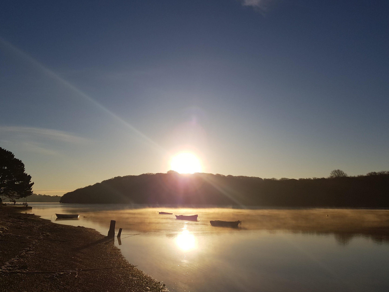 cold morning at Devoran creek
